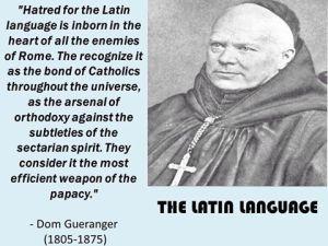 Hatred of Latin