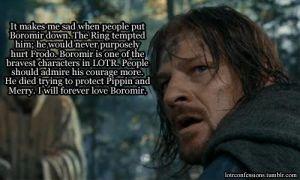 We love Boromir
